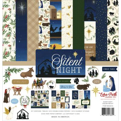 Echo Park Silent Night Designpapier - Collection Kit