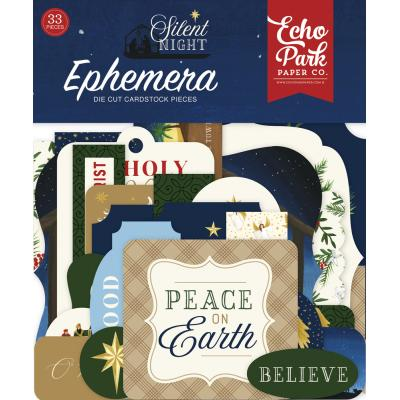 Echo Park Silent Night Die Cuts - Ephemera