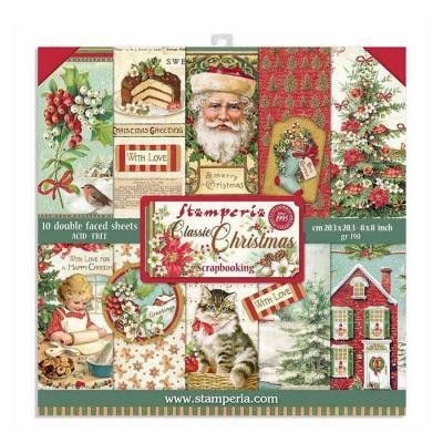 Stamperia Paper Pack - Classic Christmas