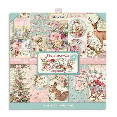 Stamperia Paper Pack - Pink Christmas