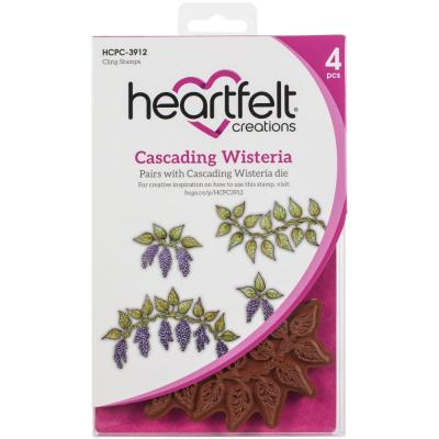 Heartfelt Creations Cling Rubber Stamp Set - Cascading Wisteria