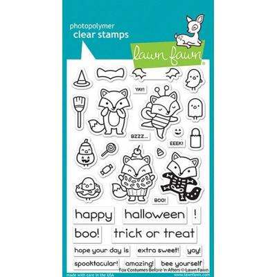 Lawn Fawn Clear Stamps - Fox Costumes Before'n Afters