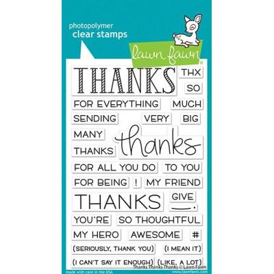 Lawn Fawn Clear Stamps - Thanks Thank Thanks