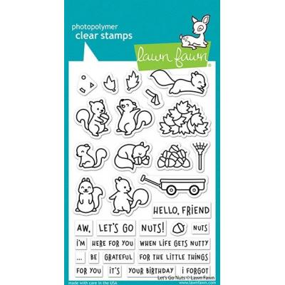Lawn Fawn Clear Stamps - Let's Go Nuts