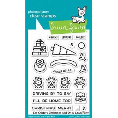 Lawn Fawn Clear Stamps - Car Critters Christmas Add-On