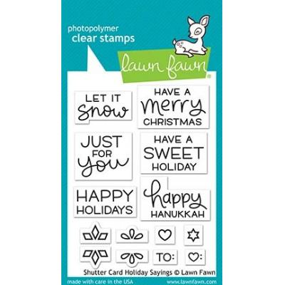 Lawn Fawn Clear Stamps - Shutter Card Holiday Sayings
