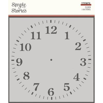 Simple Stories Vintage Ancestry Stencil - Clock