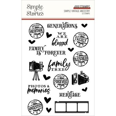 Simple Stories Clear Stamps - Vintage Ancestry