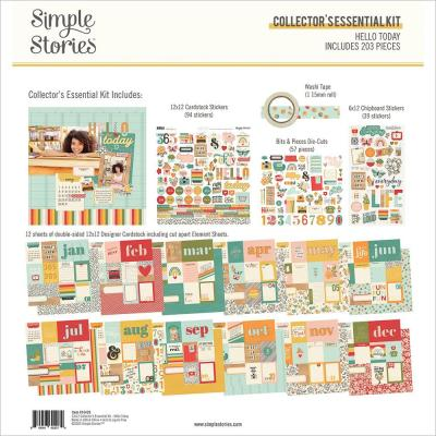 Simple Stories Hello Today Designpapier - Collector's Essential Kit
