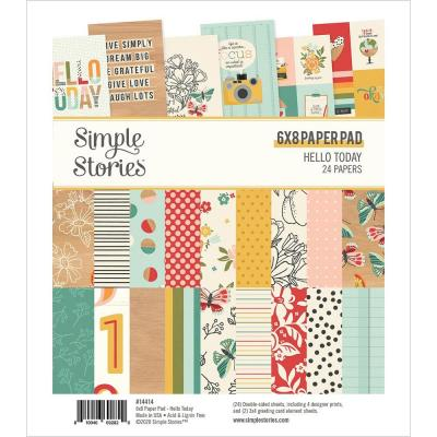 Simple Stories Hello Today Designpaper - Paper Pad