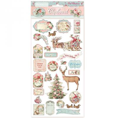 Stamperia Chipboard - Pink Christmas