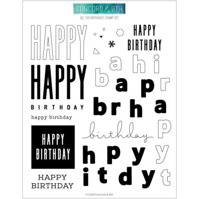 Concord & 9th Clear Stamps - All The Birthdays