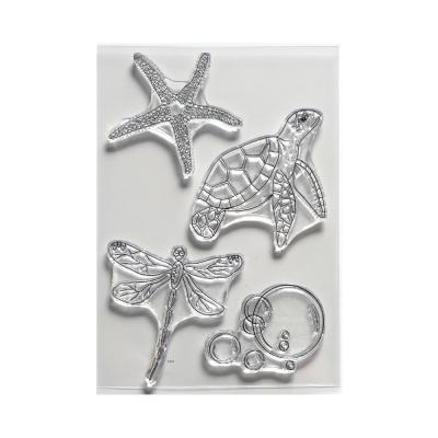 Elizabeth Crafts Clear Stamps - Water Creatures Art Journal