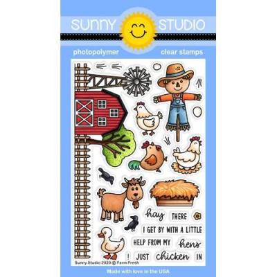Sunny Studio Clear Stamps - Farm Fresh