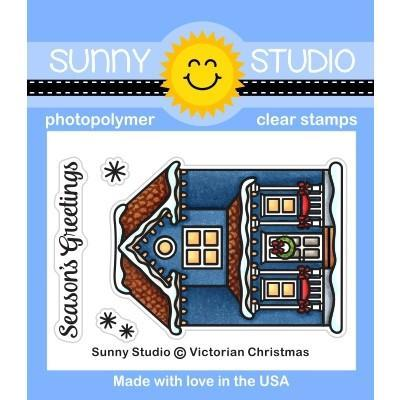 Sunny Studio Clear Stamps - Victorian Christmas