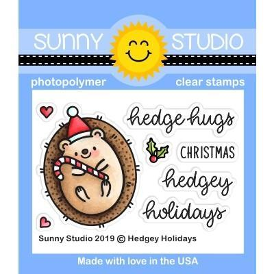 Sunny Studio Clear Stamps - Hedgey Holidays