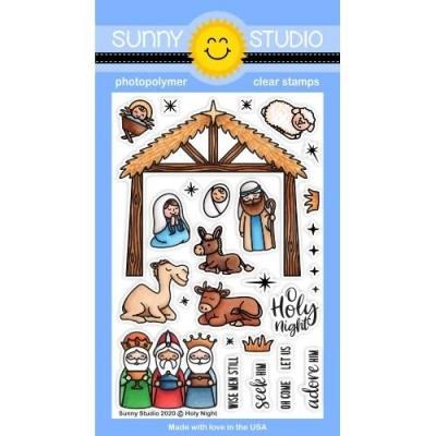 Sunny Studio Clear Stamps - Holy Night