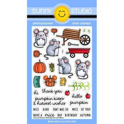 Sunny Studio Clear Stamps - Harvest Mice