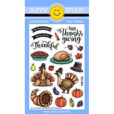 Sunny Studio Clear Stamps - Bountiful Autumn