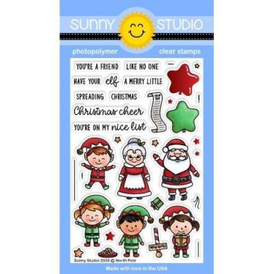 Sunny Studio Clear Stamps - North Pole