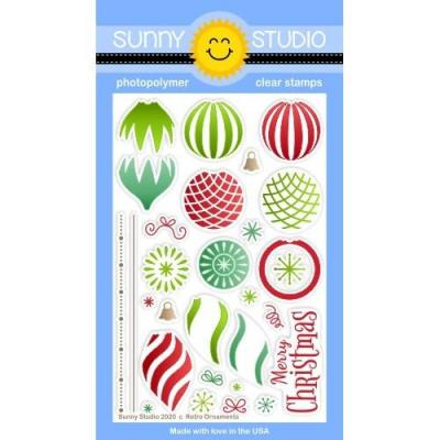 Sunny Studio Clear Stamps - Retro Ornaments