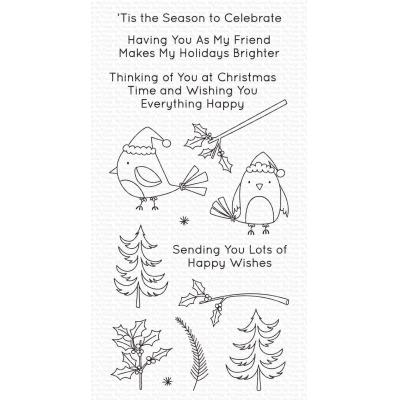 My Favorite Things Clear Stamps - Christmas Cardinals