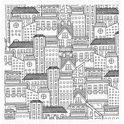 My Favorite Things Rubber Stamp - City Block Background