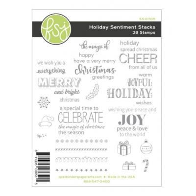 Fun Stampers Journey Clear Stamps - Holiday Sentiment