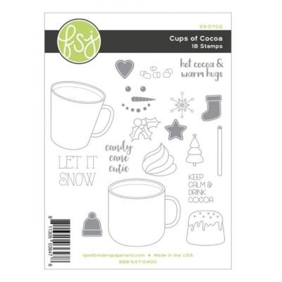Fun Stampers Journey Clear Stamps - Cups of Cocoa