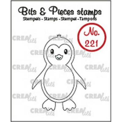 Crealies Clear Stamp - Pinguin no.221