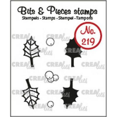 Crealies Clear Stamps - Stechpalme no.219