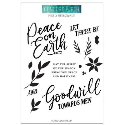 Concord & 9th Clear Stamps - Peace On Earth