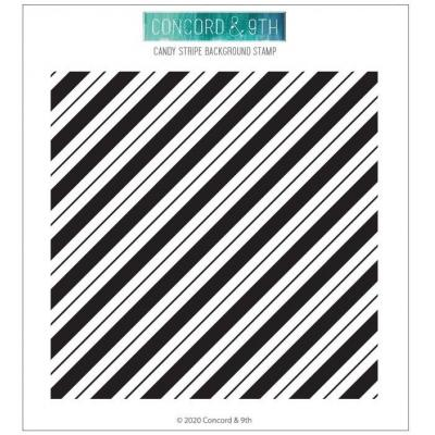 Concord & 9th Clear Stamp - Candy Stripe Background