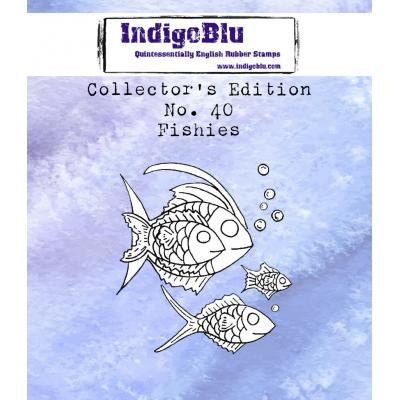 IndigoBlu Rubber Stamps - Collector's No. 40 Fishies