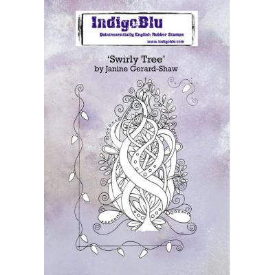 IndigoBlu Rubber Stamps - Swirly Tree
