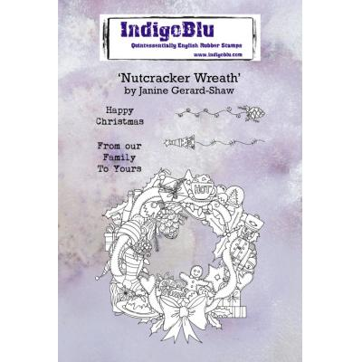 IndigoBlu Rubber Stamps - Nutcracker Wreath