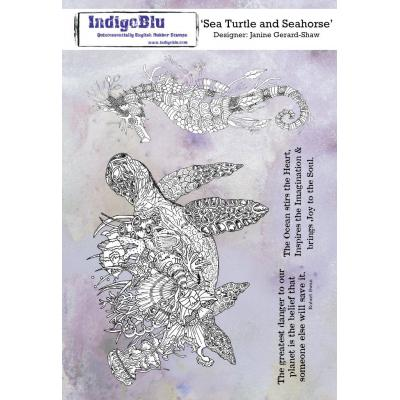 IndigoBlu Rubber Stamps - Sea Turtle and Seahorse