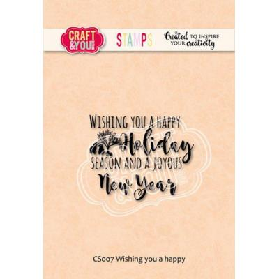 Craft&You Design Clear Stamp - Wishing You A Happy Christmas