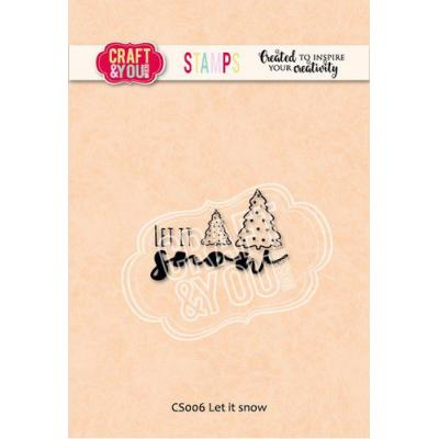 Craft&You Design Clear Stamp - Let It Snow
