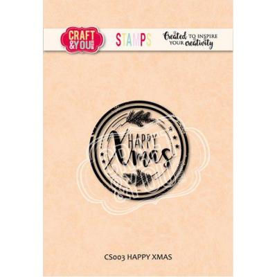 Craft&You Design Clear Stamp - Happy Xmas