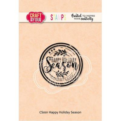 Craft&You Design Clear Stamp - Happy Holiday Season