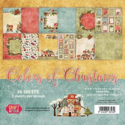Craft&You Design Designpapier - Colors Of Christmas