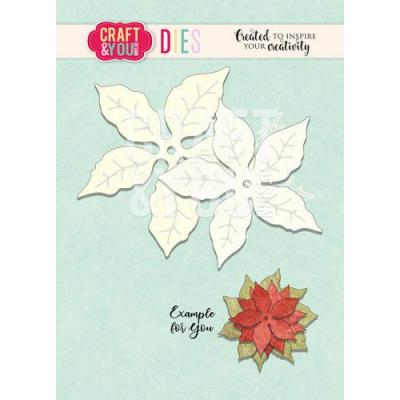 Craft&You Design Cutting Die - Poinsetia