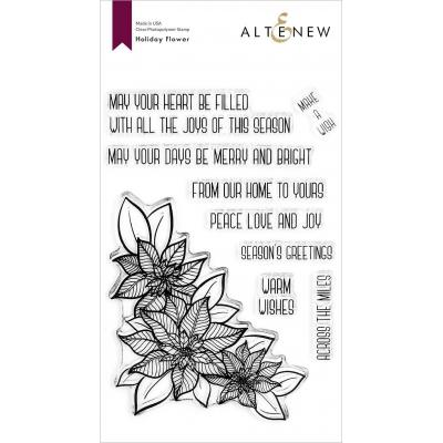 Altenew Clear Stamps - Holiday Flower