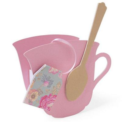 Sizzix ScoreBoards L Die - Teacup 3-D & Spoon
