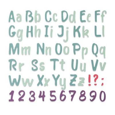 Sizzix Thinlits Die Set - Bold Brush Alphabet