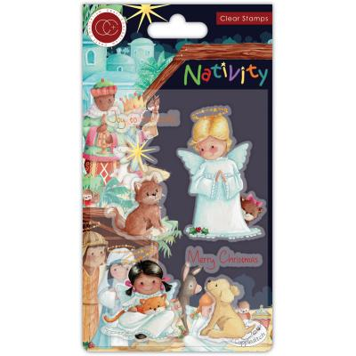 Craft Consortium Nativity Clear Stamps - Angels