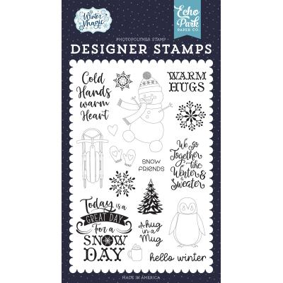 Echo Park Winter Magic Clear Stamps - Warm Hugs