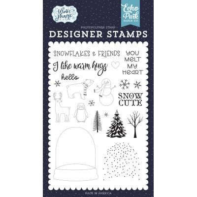 Echo Park Winter Magic Clear Stamps - You Melt My Heart