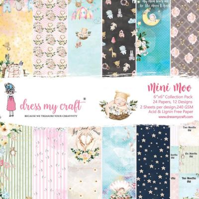 Dress My Crafts Paper Pad Designpapier - Mini Moo